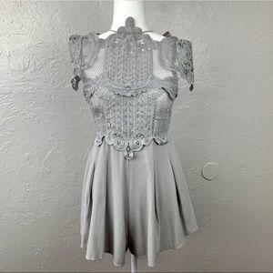 Angel Biba Ornate Lace Romper sz 8 fits like a 6!